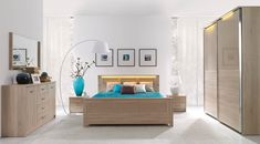 Łóżko Cremona producenta New Elegance. Oak Bed Frame, Oak Beds, Sonoma Oak, Modern Bedroom Furniture, Light Oak, Bed Storage, Bedroom Styles, Your Space, Design