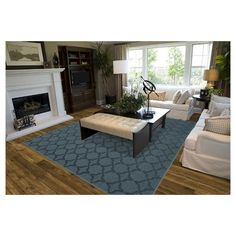Style and value are what you get with this Sparta area rug from Garland Rug. Made in the USA and designed specifically for someone seeking value and style. The classic trellis design on this rug will be the perfect accent for any room. Great for that first apartment, college dorm room, living room, home office, or any room needing a classic update. Sparta is machine tufted low pile cut and loop in Olefin yarn on traditional action back backing. Action back may require the use of a rug pad or…