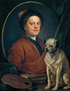 William Hogarth, Painter and his Pug 1745.