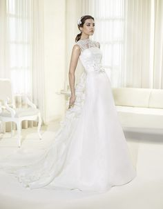 "Bridal dress F2006 by "" 2014 Delsa Fashion collection"""