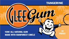 Glee Gum All Natural Gum Tangerine, 16 Pieces