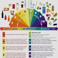 Alkaline diet chart.