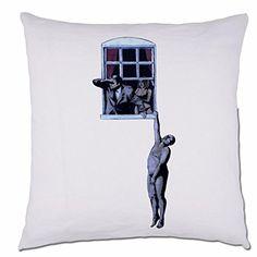 Window Hanger Banksy Street Art Graffiti Sofa Scatter Cushion Pillow 48cm x 48 cm Black BANG TIDY CLOTHING http://www.amazon.co.uk/dp/B012GT2YT2/ref=cm_sw_r_pi_dp_BhLTvb0E9QQE4