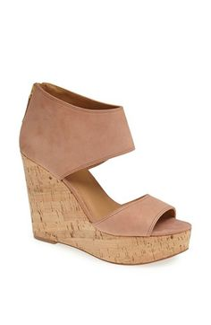 Nine West 'Caswell' Leather Wedge Sandal available at #Nordstrom