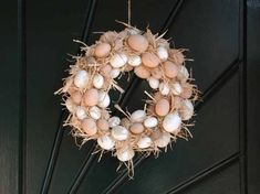 A bright green holly wreath bursting with red berries is the quintessential decoration for the winter holidays. The wreath looks equally festive on a door or mantel, so expect. Holly Wreath, Grapevine Wreath, Making Easter Eggs, Red Berries, Easter Wreaths, Easter Crafts, Easter Ideas, Topiary, Door Wreaths