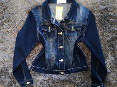 Dark blue denim jacket Black Cold Shoulder Dress, Off Shoulder Tops, Dark Blue Denim Jacket, Sequin Cocktail Dress, Stretch Denim, Store, Womens Fashion, Jackets, Down Jackets