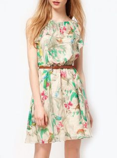 Floral Sleeveless Fashion Dress