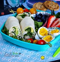 Lunch Box: Ranch dressing Rotisserie #chicken with Avocado #Wraps @SECooking | Sandra