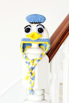 FREE Crochet Pattern - Donald Duck Inspired Baby Hat via Hopeful Honey