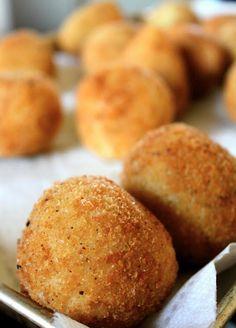Sicilian rice balls. Italy