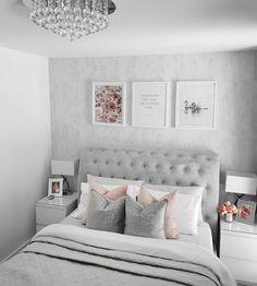 Cheap Home Decor .Cheap Home Decor Bedroom Decor Pictures, Bedroom Decor For Couples, Room Ideas Bedroom, Small Room Bedroom, Quotes For Bedroom Wall, Small Rooms, Small Spaces, Green Bedroom Decor, Home Decor Bedroom