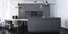 minimal kitchen concrete - Google Search