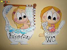 anjelicek / Menovka - WC a kúpeľňa Disney Characters, Fictional Characters, Snoopy, Rust, Disney Face Characters