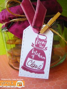 'From the kitchen of.' made with my new 'Sweet Thing' clear stamps now… Clear Stamps, Cardmaking, Greeting Cards, Paper Crafts, Gift Wrapping, Day, Sweet, Stamping, Projects