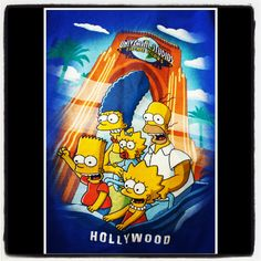 """Universal Studios Hollywood"" The Simpsons"" #TShirt"
