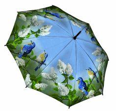 Hautman Bluebirds. I have had so many ugly umbrellas.  I would really enjoy a beautiful one like this. :)