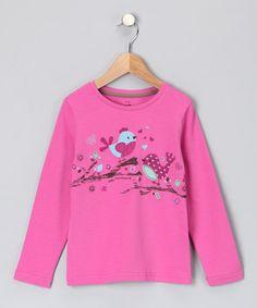 Kite Kids  Rose Tweet Hearts Organic Tee - Girls (original $33.00)  $11.99