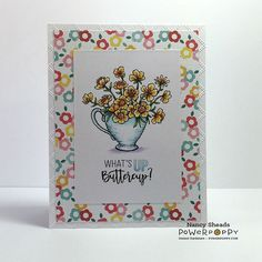 So what's up buttercup? New digital release from Power Poppy!  @marcellahawley #powerpoppy #digitalstamps #papercraft #handmadecards #copicmarkers #copic #instantgardenerteam #rowhousegreetings #instantgarden #flowers
