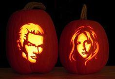 buffy and spike pumpkins
