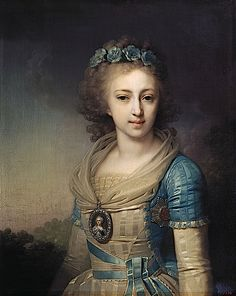 1795 Grand Duchess Elena Pavlovna of Russia, later Duchess of Mecklenburg-Schwerin by Vladimir Lukich Borovikovsky