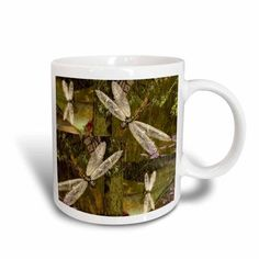 3dRose Dragonflies Graphic Design Dragonflies, Ceramic Mug, 11-ounce