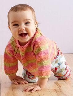 Sunrise Stripes Pullover Pattern (Knit)