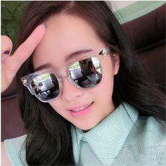 HOT Clear Frame Female Sunglasses Vintage Cat Eye Feminine Sun Glasses For Women Brand Designer Women's Glasses Point Goggles #jewelry, #women, #men, #hats, #watches, #belts, #fashion