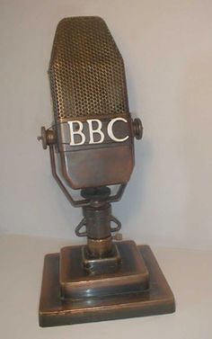 Old School Radio Broadcasting Microphone Kgo Old School