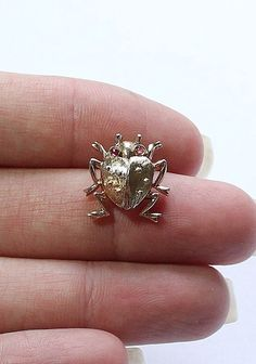 Antique TRIFARI STERLING SILVER 925 Ladybug Beetle Pin or Brooch #Trifari