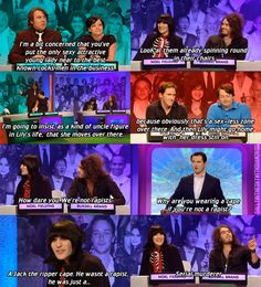 (the big fat quiz of the year,noel fielding,russell brand,capes)
