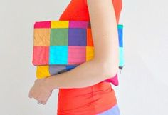 DIY A Statement Patchwork Clutch DIY Crafts