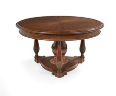 ~ Louis Philippe Style Mahogany Center Table ~ invaluable.com/auction