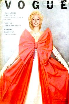 1954: Vogue magazine cover of Marilyn Monroe