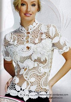 Irish crochet blouse inspiration                              …