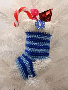 Posts about Crochet Patterns written by mojimojidesign Crochet Christmas Stocking Pattern, Crochet Stocking, Crochet Christmas Decorations, Christmas Knitting, Christmas Ideas, Holiday Crochet, Christmas Patterns, Holiday Ideas, Christmas Crafts