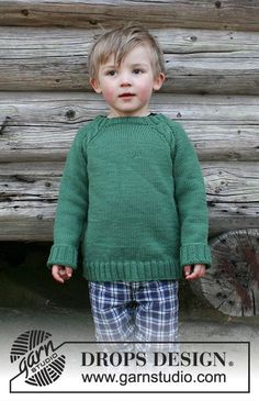 Le Petit Bûcheron - Jumper with raglan and cables, worked top down for kids. Size 2 - 12 years Piece is knitted in DROPS Merino Extra Fine. - Free pattern by DROPS Design Baby Knitting Patterns, Knitting For Kids, Free Knitting, Drops Design, Raglan Pullover, Toddler Sweater, Baby Jumper, Boys Sweaters, Knitting Accessories