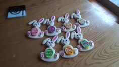Salt dough Easter bunnies used for an Easter egg hunt at work Easter Bunny, Easter Eggs, Salt Dough, Egg Hunt, Bunnies, Washer Necklace, Art, Rabbits, Kunst