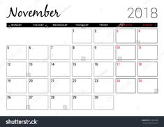 november 2018 planner - This calendar ideas strategies was add at by november 2018 planne Printable Yearly Calendar, Blank Calendar Pages, Free Calendar Template, Cute Calendar, Print Calendar, Planner Template, Printable Planner, Calendar Ideas, November Calendar