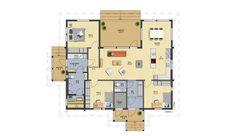 Lakka 140 A - Finnlamelli Oy House Plans, Sweet Home, Floor Plans, Layout, Flooring, How To Plan, Sims, Ideas, House Beautiful