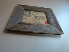 "Barnwood Frame 7"" x 7"" Authentic Gray Old Barn Wood Seasoned by Nature! Vintage, Rustic, Primitive, Distressed, Antique, Reclaimed Frames by FramesInBarnWood on Etsy"