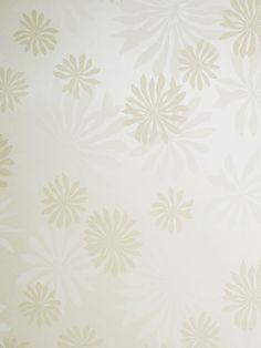 Miss Print MissPrint Fleur White with Stone Wallpaper Stone Wallpaper, Wallpaper Paste, White Wallpaper, Pattern Wallpaper, Neutral Color Scheme, Colour Schemes, Traditional Wallpaper, Tree Designs, Flowers