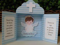 Oratório em papel para lembrancinha de Batizado. <br> <br>Fechado…