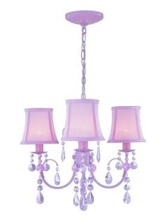 Lite Source Inc. Sofie Sofie LS-19528PINK 3 Light Chandelier in Pink Pink  Item #: 233LS19528PINKCH-P  $170 + FREE SHIPPING