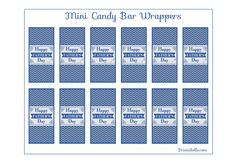 Free Father's Day Mini Candy Bar Wrappers