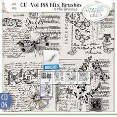 Cu vol 188 Mix Brush by Florju Designs