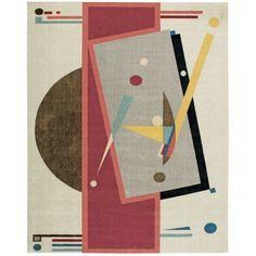 Nourison Modern Art Collection Architectural Design Rug, Beige