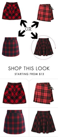 """Which Plaid?"" by kassandra-cdxv ❤ liked on Polyvore featuring Superdry, Burberry and Chicwish"
