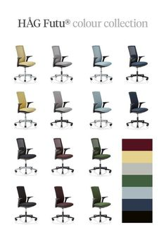 The New HÅG Futu Office Chair Colour Collection features 7 custom-made colours, inspired by nature and designed to fit every environment. Aubergine, Forest, Straw, Stone, Night, Dusk and Frost - each with their own appeal. Stick to one colour, or mix and match to create your perfect combination, the opportunities are endless. The entire collection comes in our uniquely designed FutuKnitTM fabrics. Made from the finest quality polyester knit. #textile #design #workspace #officechair Mesh Fabric, One Color, Textile Design, Frost, Scandinavian, Colours, Office Chairs, Create, Dusk