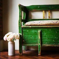 Vintage green bench