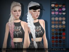 LeahLillith Nightdancer Hair – The Sims 4 Catalog - hair peinados Sims 4 Tsr, My Sims, Sims Cc, Sims 4 Mods, Photo Manga, The Sims 4 Cabelos, Pelo Sims, The Sims 4 Packs, Sims4 Clothes